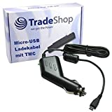Premium Micro-USB 2A KFZ-Ladekabel 12V/24V mit TMC Antenne (1,1m Länge) für Falk Flex 450 500 500 2nd Edition Neo 440 450 520 Lmu 550, 550 2nd Edition 620 Lmu 640 Lmu Pur 500 550 2nd Edition