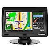 AWESAFE Navigationsgerät für Auto LKW mit 7 Zoll Touchscreen GPS Navi Sonnenblende untertützt lebenslang Kartenupdate