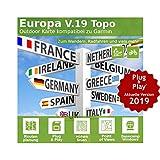 Europa V.19 - Profi Outdoor Topo Karte passend für Garmin Geräte - Komplett Europa