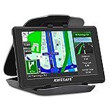 AWESAFE GPS Navi Navigation für Auto LKW PKW KFZ 5 Zoll Touchscreen Sprachführung Lebenslang Kostenloses Kartenupdate mit Navigationsgerät Halterung