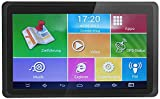 Hieha GPS Navi Navigation 7 Zoll Navigationssystem für LKW PKW 16GB 512MB Bluetooth Android Navigationsgerät Kostenloses Kartenupdate POI Blitzerwarnung Sprachführung Fahrspurassistent EU Karten