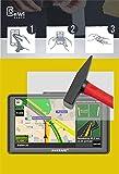 EnWi | 2X Panzer-Glas-Folie 9H Display-Schutz-Folie für Awesafe Navigationsgerät 7 Zoll