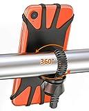 Cocoda Handyhalterung Fahrrad,360°Verstellbare Universelle Handyhalterung Motorrad aus Silikon, Drehbarer Fahrradhalter Motorradständer für iPhone 11 Pro Max/X/XS/XR/ 8/7, Samsung S10/ S10e/ S10 Plus