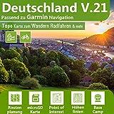 Deutschland V.21 - Profi Outdoor Topo Karte passend für Garmin Oregon 700, 700t, 750, 750t