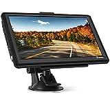 Navigationsgeräte für Auto Navi, 7 Zoll 8GB 256MB Touchscreen Navigation für LKW PKW KFZ, POI Blitzerwarnung Sprachführung Fahrspurassistent 2021 Europa Karten
