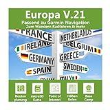 Europa Profi Outdoor Topo Karte - Topografische Outdoor Freizeitkarte für Garmin Edge 1000, 1030, Explore, Touring, Touring Plus