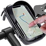 Handyhalterung Fahrrad Wasserdicht handyhalterung Motorrad Entspiegelt ideal zur Navigation Fahrradtasche lenkertasche Fahrradhalterung Fahhradtasche 360°Drehbarem Für 5.5-7 Zoll Handys GPS Geräte