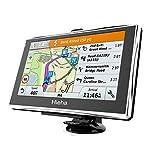 Hieha Auto Navigation 7 Zoll Sprachführung Navigationsgerät Touchscreen GPS Navi 8GB /256M Navigationssystem für LKW PKW Kostenloses Kartenupdate Blitzerwarnungen POI Fahrspurassistent EU Map Karten