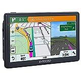 Navigationsgerät,GPS Navi Navigation-Auto LKW PKW 7 Zoll Navigationsgerät 8G 256M Sprachführung Blitzerwarnung POI Lebenslang Kartenupdate Fahrspurassistent UK EU Karten