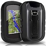 TUSITA hülle für Garmin eTrex Touch 25 35 35t - Silikon Schutzhülle Skin - Handheld GPS Navigator Zubehör (SCHWARZ)