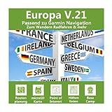 Europa V.21 - Profi Outdoor Topo Karte passend für Garmin GPSMap 64, 64s, 64st, 64x, 64sx, 65, 65s