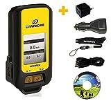 G-PORTER GP-102+ GPS- Multifunktionsgerät (gelb) - Set mit 110-240V Netzteil und 12V KFZ-Adapter