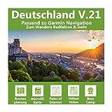 Deutschland V.21 - Profi Outdoor Topo Karte passend für Garmin Edge 1000, 1030, Explore, Touring, Touring Plus