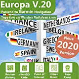 Europa Profi Outdoor Topo Karte - Topografische Outdoor Freizeitkarte für Garmin GPS Navigation - Zum Wandern, Radfahren, Wandern, Touren, Trekking, Geocaching & mehr