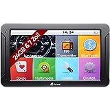 Elebest Mobile Navigationsgerät Auto - 7 Zoll HD Display, Freisprecheinrichtung, lebengslanges Karten Update, Blitzerwarner, Bluetooth, 24 GB Speicher, für PKW LKW und Wohnmobil