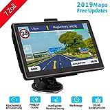 WayGoal GPS Navi Navigation für Auto 7 Zoll 16GB mit POI Blitzerwarnung Sprachführung Fahrspurassistent und 2019 Europa 52 Karten