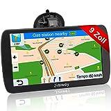 Jimwey Navigationsgerät für LKW Auto Navigation GPS Navi Navigationssystem 9 Zoll 16GB Lebenslang Kostenloses Kartenupdate mit Blitzerwarnung POI Sprachführung Fahrspur 2020 Europa UK 52 Karten
