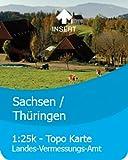Satmap GPS System Karte 1:25000 & 1:50000 Deutschland: Sachsen/Thüringen