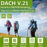 Dach V.21 - Outdoor Topo Karte passend für Garmin Edge 1000, 1030, Explore, Touring, Touring Plus