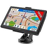 Jimwey Navigationsgerät für Auto LKW Navigation 7 Zoll Navi 16GB Navigationssystem Lebenslang Kostenloses Kartenupdate mit POI Blitzerwarnung Sprachführung Fahrspurassistent 52 Europa UK 2021 Karte