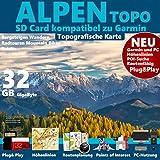 Alpen Karte Topo Höhenlinien 32GB MicroSD Garmin etrex Vista HCx GPSMap 60 Nüvi Wander & Outdoor GPS-Geräte