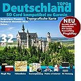 Deutschland Garmin Karte Outdoor Topo Höhenlinien Garmin Dakota 20, eTrex 20, eTrex 20X, eTrex 25, eTrex 30, eTrex 30X, eTrex 35 & Touch Garmin Edge 800 810 1000 Touring Plus Etrex