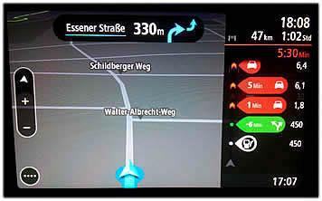 TomTom Go 6200 mit Stau auf dem Display