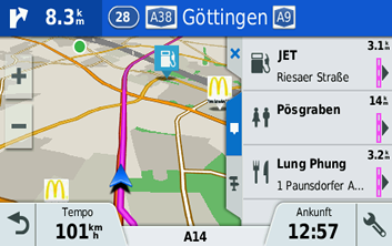 garmin driveassist 51 pois entlang der route. Black Bedroom Furniture Sets. Home Design Ideas
