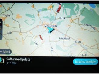 TomTom Go Basic zeigt Update für das Navigationsgerät an