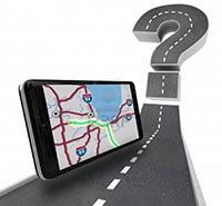 Navi Test Portal über mobile Auto Navigationsgeräte