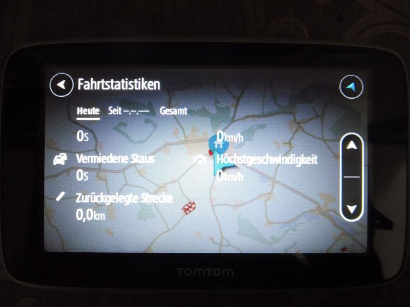 TomTom Go Premium Fahrstatistiken anzeigen