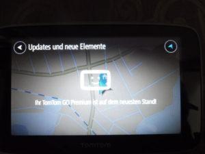 TomTom Go Premium ist nach dem Update auf dem aktuellen Stand vom Kartenmaterial