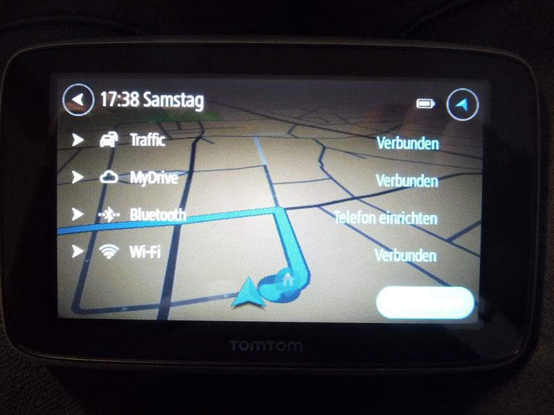 TomTom Go Premium Online Verbindungen zum Navigationsgerät