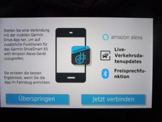 Garmin Drive Smart 65 mit Alexa Verbindung zu Live-Dienst via Smartphone herstellen