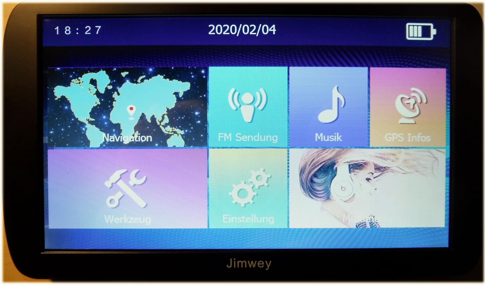 Jimwey-Hauptmenue