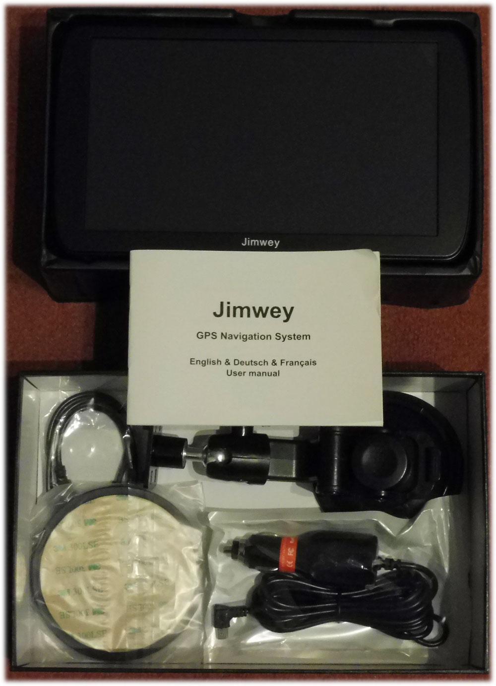 Jimwey-Lieferumfang