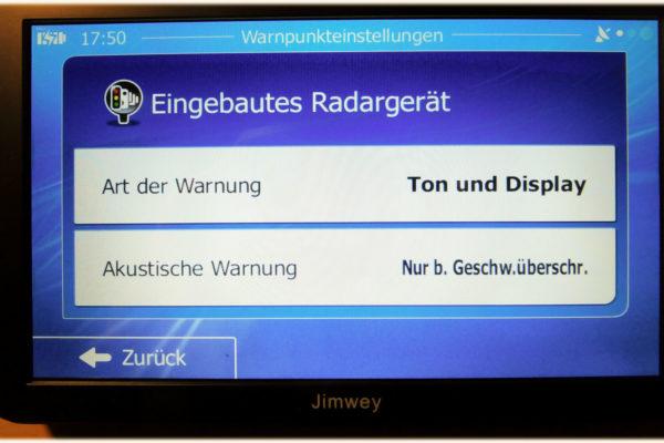Jimwey und die Radarwarnungen