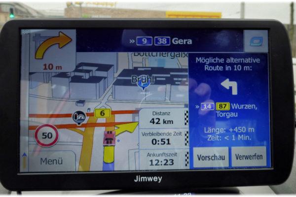 Jimwey 3D Ansicht mit Alternativroute rechts im Angebot