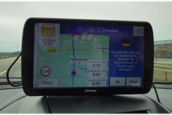 Jimwey Navigationsgerät Willkommen in Deutschland