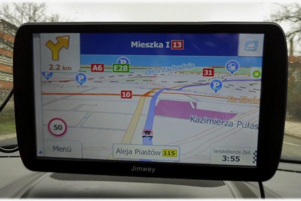 Mit Jimwey Navigationsgerät unterwegs in Stettin