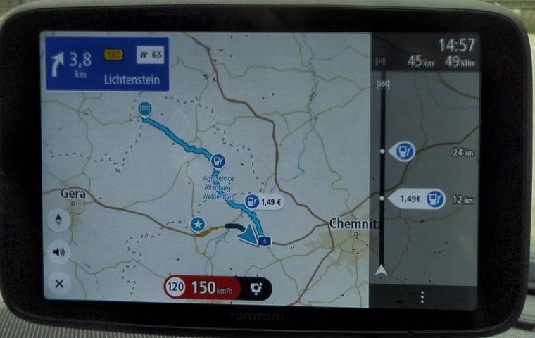 TomTom Go Discover Karte auf Nordstellung eingestellt