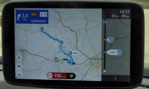 TomTom Go Discover 7 Zoll im Navi Test 2021 mit Nord Stellung auf der Karte