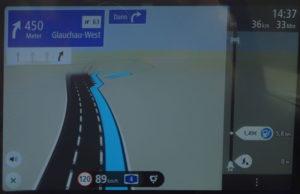 TomTom Go Discover 7 Zoll Ausschnitt für Autobahnausfahrt