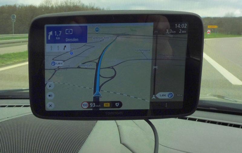 TomTom Go Discover 7 Zoll Wechsel der Autobahn
