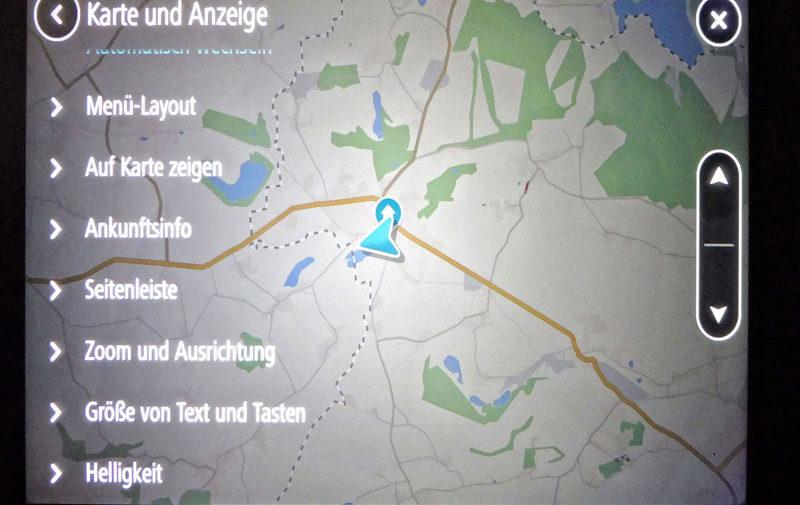 TomTom Go Discover 7 Zoll Karte und Anzeige individuell einstellen