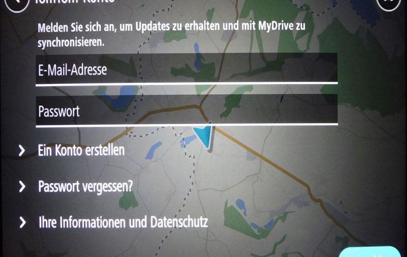 TomTom Go discover 7 Zoll mit eigenem mail-Konto verbinden