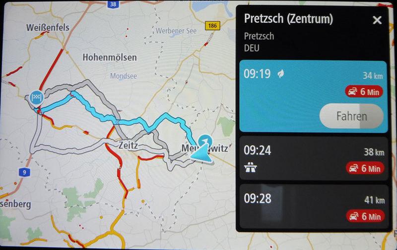 TomTom Go Discover 7 Zoll Routenberechnung mit Stauanzeige