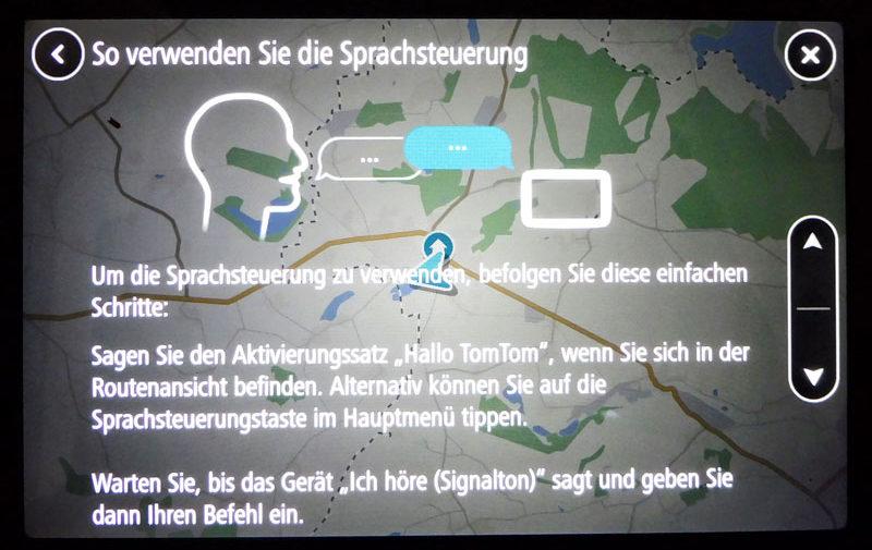 TomTom Go Discover 7 Zoll sprachsteuerung einsetzen