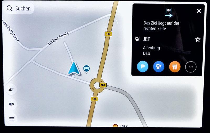 TomTom Go Discover 7 Zoll nächster Halt Tankstelle